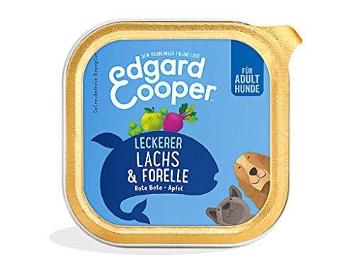 Edgard & Cooper natürliches Premium Nassfutter für Adult Hunde in Schalen - 11 x 150g - Lachs & Forelle - getreidefrei