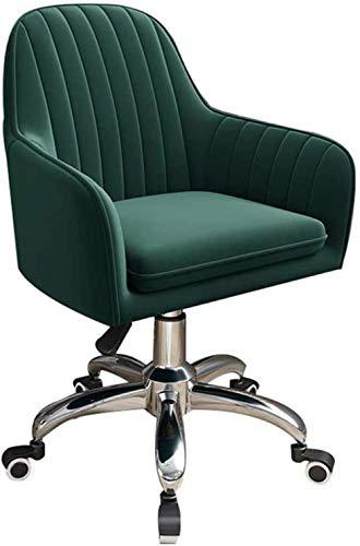 Samt BürostuhlErgonomischer Schreibtischstuhl Bequemer Drehstuhl mit LordosenstützeHöhenverstellbarer Computerstuhlmitmittlerer Rückenlehne für das Home Office