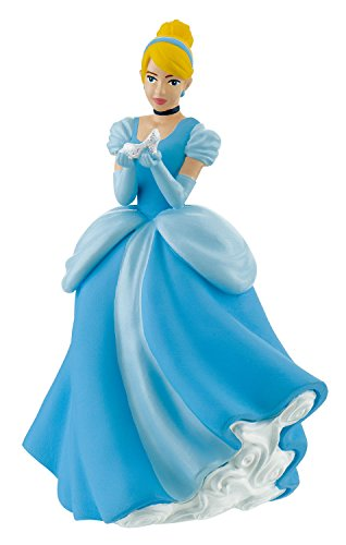 Bullyland 12599 - Spielfigur, Walt Disney Cinderella mit Schuh, ca. 10 cm groß, liebevoll handbemalte Figur, PVC-frei, tolles Geschenk für Jungen und Mädchen zum fantasievollen Spielen