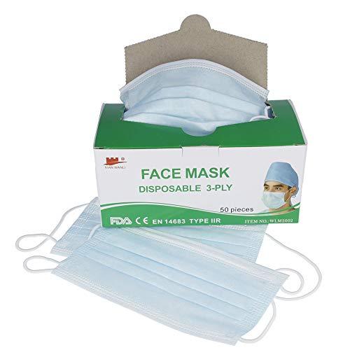 50er Pack Einweg Mundschutz Nasenschutz TYP II R Schutzmaske 3-lagig