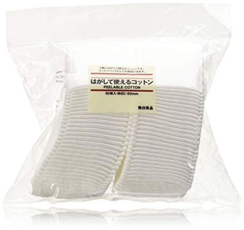 Muji Japan 4 Layers Facial Cotton Pad (60 Sheets)