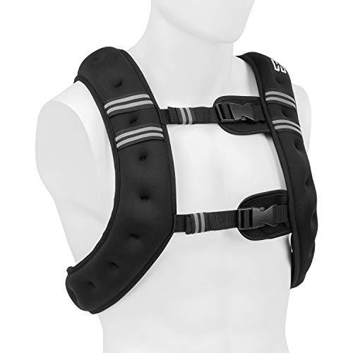 Capital Sports X-Vest Gewichtsweste, Gewicht: 10 kg, Material: Neopren/Nylon, Füllmaterial: Stahlkugeln, für Bodyweight- und Funktionstraining, 2 Brustgurte, schwarz