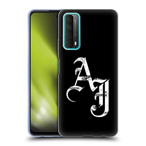 Head Case Designs sous Licence Officielle WWE Initiales De Grunge AJ Styles Coque en Gel Doux Compatible avec Huawei P Smart (2021)