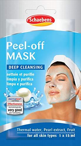 Peel-Off Maske für alle Hauttypen mit thermischem Wasser, Perlextrakt und schaebens Früchte