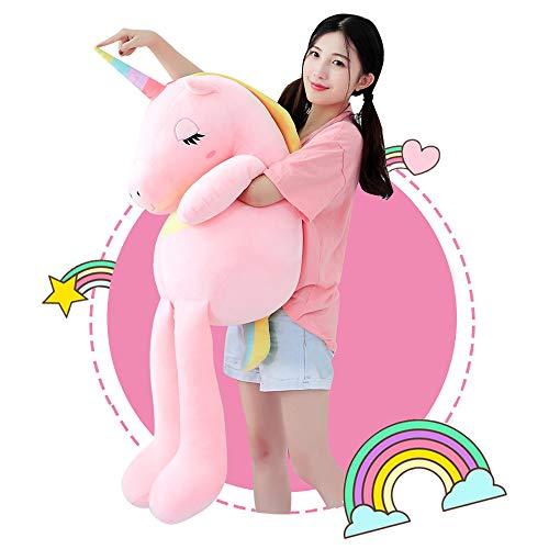 Unicorn Plush Stuffed Animal Toys,Soft Cute Pink Unicorn Pony Doll Gifts for Kids Birthday,Valentines,Christmas 23.6'