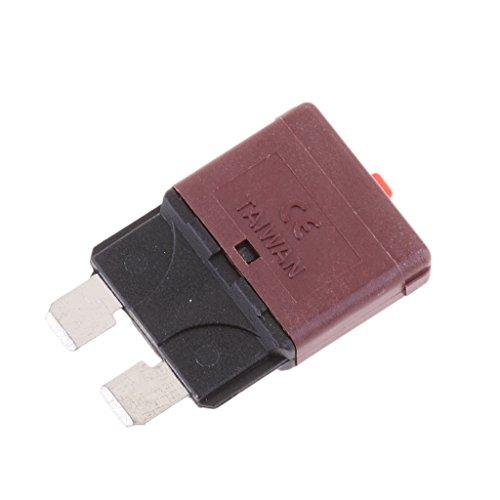 MagiDeal Disjoncteur Fusible Mini De Lame Marron 28V 10A Mécanique Manual Circuit