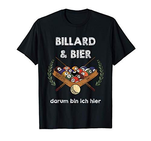Billardtisch Bierflasche Rentnerwitze Hopfen Pflanze T-Shirt