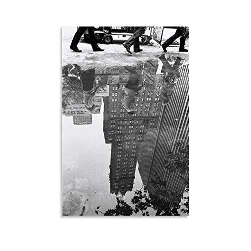XIEHOU Póster de The Water Reflection y arte de pared, diseño moderno, 60 x 90 cm