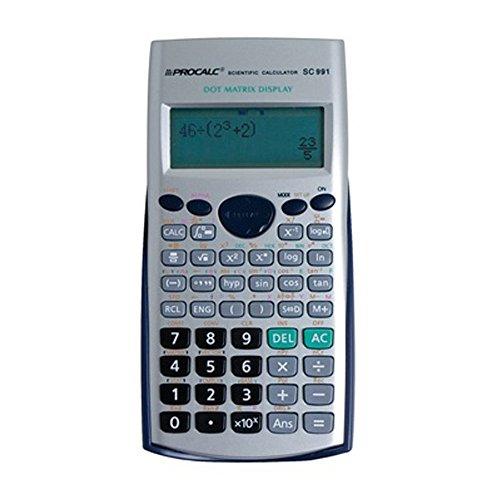 Calculadora Científica Procalc SC991-403 funções, visor LCD, Prata