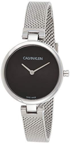 Calvin Klein Damen Analog Quarz Uhr mit Edelstahl Armband K8G23121