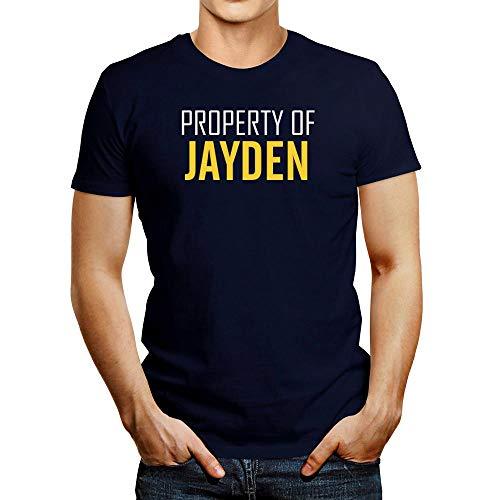 Idakoos Property of Jayden Camiseta de texto negrita