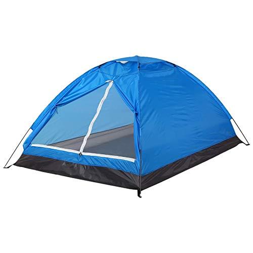 Carpa para Camping Tienda De Campa?a para 2 Personas De Una Sola Capa para La Playa Camping Senderismo Pesca (Size:200x130x110cm; Color:Blue)