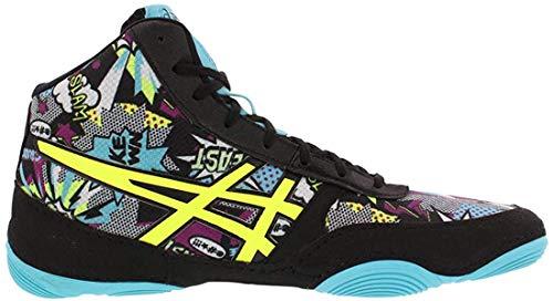 ASICS Men's JB Elite V2.0 Wrestling Shoe, Comic/Flash Yellow/Blue Alt, Size 11.5