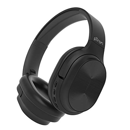 pTron Studio Pro Soundster Hi-Fi Over The Ear Wireless Bluetooth Headphones with Mic, Long Battery Life & Passive Noise Cancellation - (Black)