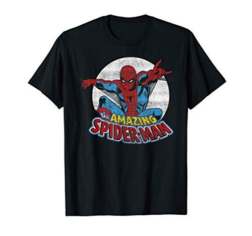Marvel Amazing Spider-Man Retro Vintage Graphic T-Shirt