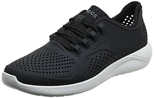 Crocs Women's LiteRide Pacer Sneakers, Black, 8
