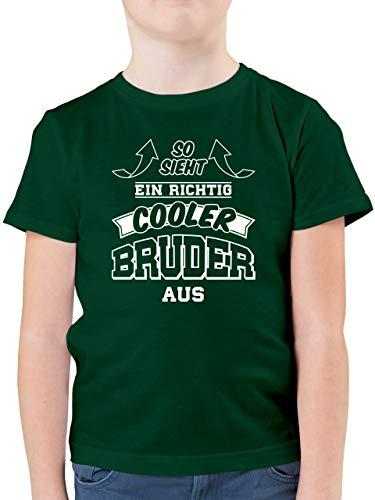 Geschwister Bruder - So Sieht EIN richtig Cooler Bruder aus - 140 (9/11 Jahre) - Tannengrün - Spielzeug 1 Jahre - F130K - Kinder Tshirts und T-Shirt für Jungen