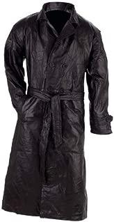 Giovanni Navarre Leather Trench Coat - L