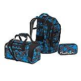 Satch Pack BTS2020 Schulrucksack Set 3tlg. (Rucksack+Etui+Sporttasche) (Blue Triangle)