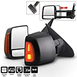ACANII - [Telescoping Power Heat LED Signal] Towing Mirrors Driver+Passenger Side For 2008-2017 Toyota Tundra/Sequoia