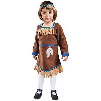 EUROCARNAVALES Disfraz de India Marrón con Flecos para bebé ...