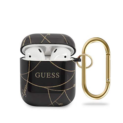 Guess GUACA2TPUCHBK Gold Chain Collection Hülle für AirPods schwarz