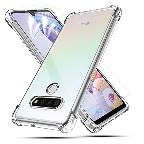 BEBEST- LG Stylo 6 Case, LG Stylo 6 Phone Case with Screen Protector, Flexible Thin Cover [ Shockproof Bumper ] Ultra Slim Fit Soft TPU Clear Phone Case Protective Cover for LG Stylo 6