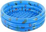 LYYJIAJU Jardín Infantil al Aire Libre para niños Piscina temática de 3 Anillos con Piscina de Peces Tropicales Piscina Interior y Exterior para niños y Adultos - Diámetro 130 x Al 40