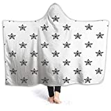 SUPNON Seamless Line Art Summer Beach Backround Hoodie Blanket Wearable Throw Blankets for Couch Blanket Hooded for Baby Kids Men Women SW15974 60'x 50'
