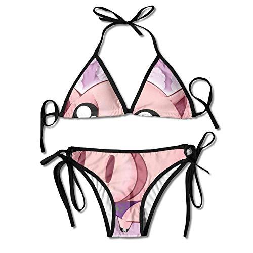 Sofa pillow Niedliche Piggy Mercy Expression Bikini Damen Sommer Badebekleidung Dreieck Top Bikinis Badeanzug Sexy 2-teiliges Set