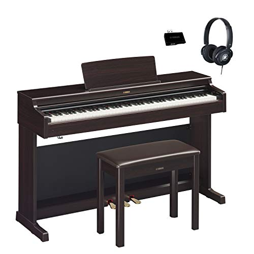 Fantastic Deal! Yamaha YDP164R Rosewood Arius Traditional Console Digital Piano with Bench, Headphon...