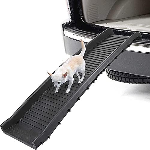 62 Inches Bi-fold Dog Ramp for Large Dogs SUV Cars Trucks Non-Slip Dog Ramps