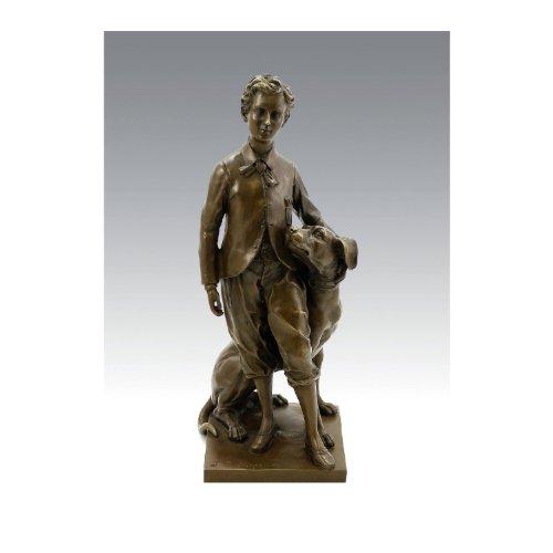 Kunst & Ambiente The Prince Impérial with His Dog Néro - Jean Baptiste Carpeaux sculptuur - Bronzen figuren kopen - Franse beeldhouw