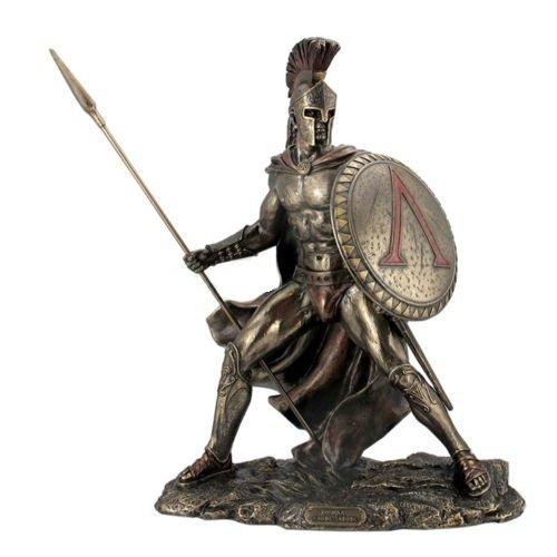 13.5' Leonidas Greek Warrior King Statue Sculpture Figurine Spartan Decor