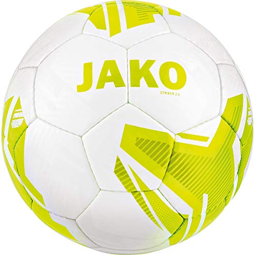 JAKO Fußbälle Lightball Striker 2.0 MS, weiß/Lemon, -290 g, 3, 2356