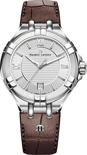 Maurice Lacroix AI1008-SS001-130-1 - Orologio da polso Uomo, Pelle, colore: Marrone