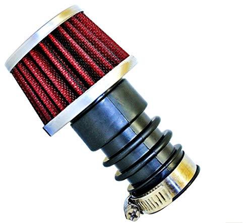 Luftfilter gerade Chrom Ø 15 mm - Ø 19 mm/Gesamtlänge 110 mm