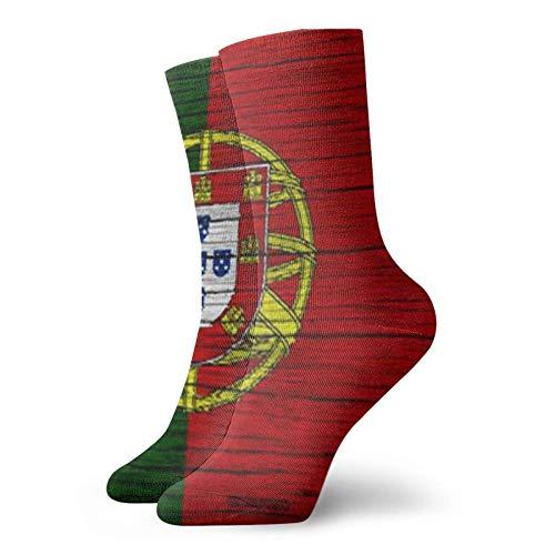 Bandiera del Portogallo Adulto Calze Corte Divertimento Crew Sock Per Mens Womens Yoga Escursionismo Ciclismo Corsa Calcio Sport