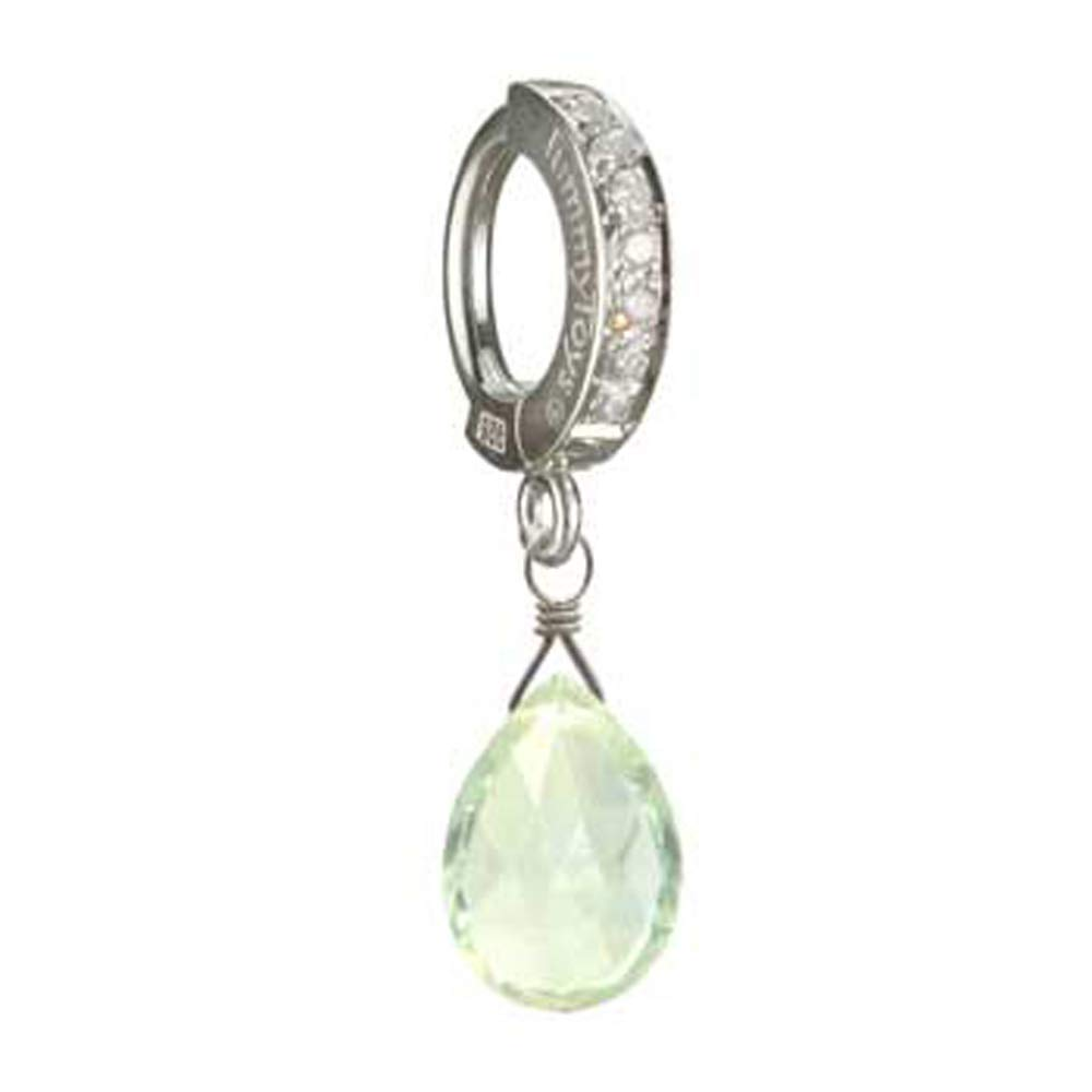 Green Amethyst Seattle Mall On TummyToys® CZ Recommended clasp Belly in Ring sn Sexy a