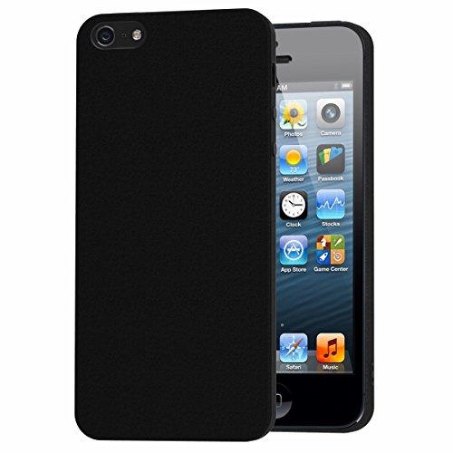 iVoler Cover Compatibile con iPhone SE 2016 / iPhone 5S / iPhone 5, Silicone Case Molle di TPU Nero Sottile Custodia per iPhone SE 2016 / iPhone 5S / iPhone 5