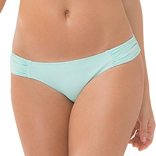 Smart & Sexy Damen Swim Secret Side Ruched Bikini Bottom Bikinihose, Mint Chip, XX-Large