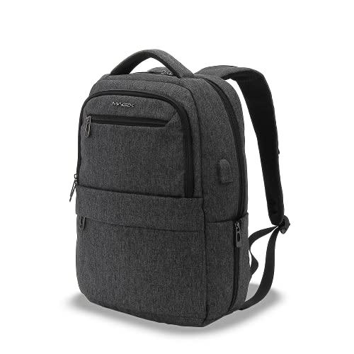 Magix Zaino per laptop 17' Tourer nero. Porta di ricarica USB, resistente all'acqua, tasca nascosta, spazio per pc fino a 17 pollici, ampio spazio, adatto a lavoro / viaggio / scuola. Per uomo, donna