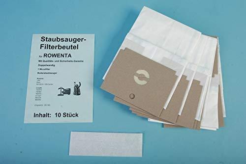 10 sacchetti per aspirapolvere compatibili con Rowenta Dymbo RS da 005 fino a 099, ricambio per Swirl R-27, ZR-745 (etichetta in lingua italiana non garantita)