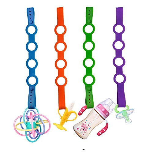 4PK Toy Safety Straps, Stretchab...