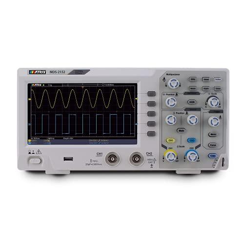 Osciloscopio De Almacenamiento Digital Súper Económico MATRIX MDS-2152 150MHZ Ancho De Banda 1GSa / s Frecuencia De Muestreo, 7 Pulgadas De Alta Resolución (150MHz)