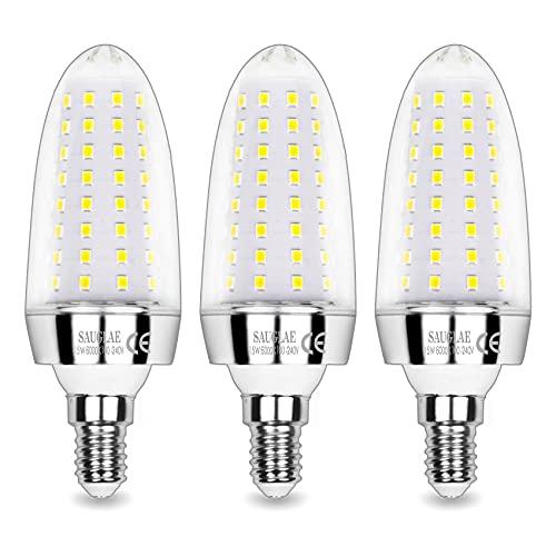 Sauglae Bombillas LED de 15W, Bombillas Incandescentes Equivalente de 120W, Blanco Frío de 6000K, 1500 lm, Bombillas de...