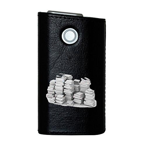 glo グロー グロウ 専用 レザーケース レザーカバー タバコ ケース カバー 合皮 ハードケース カバー 収納 デザイン 革 皮 BLACK ブラック ユニーク その他 シンプル 白 003481
