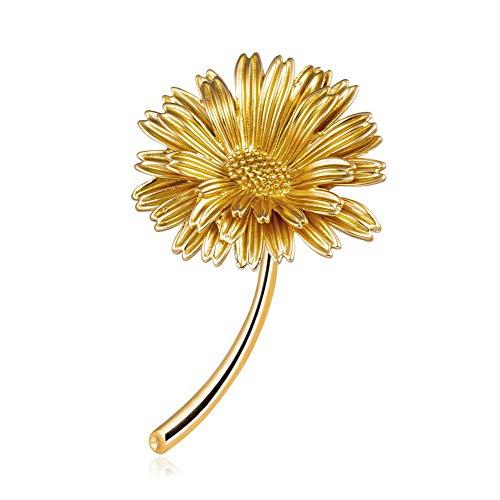 Yazilind Frauen Blume Broschen Nette Pflanze Emaille Anstecknadeln Abzeichen Schmuck Geschenke # 3