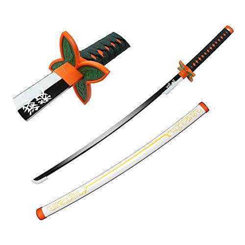 MOMAMOM Accesorios De Espada De Arma Japonesa Katana Cosplay De Demon Slayer Katana Ninja De Madera Coleccionables Juguetes para Adolescentes Y Niños Regalos De Cumpleaños 104Cm