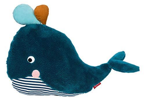 SIGIKID Mädchen und Jungen, Kuschel-Kissen Wal Urban Wildlife, Tierkissen, empfohlen ab 12 Monaten, petrol/blau, 39329